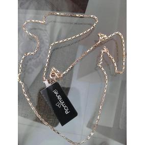 Cordão Cartier Masculino Rommanel Folheado Ouro.med 60cm