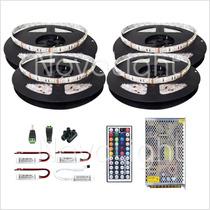 Kit 20mt Tira Led Multicolor Rgb 5050 Ip65 - Todo Incluido !