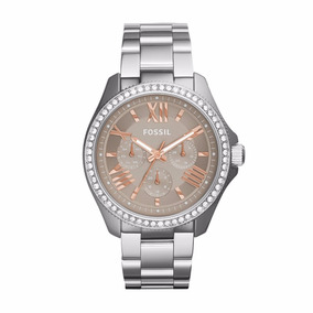 Reloj Fossil Am4628 Plateado Dama 100% Original Envío Gratis