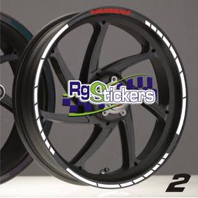Stickers/calcomanias Para Rin Moto Modelo 2 Varias Marcas Me