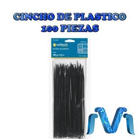 Cincho Plastico 18 Lb 15 Cm 100 Piezas Seguro Negro