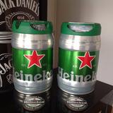 Kit Barril Chopp Heineken 5 Litros 2 Unidades + Brindes