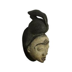 Escultura Mascara Madeira Orixá Exu Deus Africano 20cm Arte