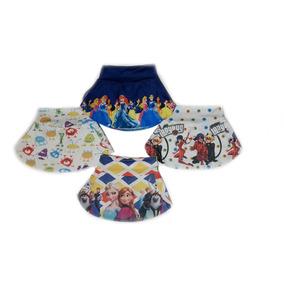 Shorts Saia Infantil Kit 12 Shortinhos Personagens Revenda