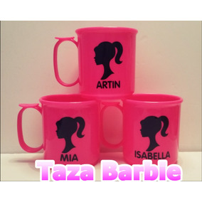 Taza Plástica Personalizadas Barbie
