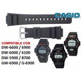 Malla De Reloj Casio G-shock Dw6900 Dw5900 Dw6600 Dw6000