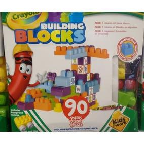 Bloques De Construccion Fichas Crayola 90 Piezas