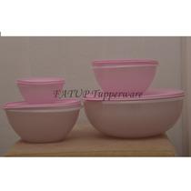 Kit Saladeira Rosa E Tigelas Maravilhosas Rosa Tupperware
