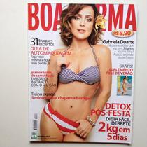 Revista Boa Forma Gabriela Duarte Ano 2010 N°286