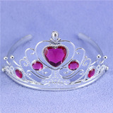Corona De Princesa Tiara Plastica Plateada