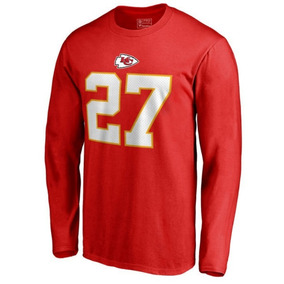 Remera Manga Larga Nfl Kansas City Chiefs #27 Hunt 4xl