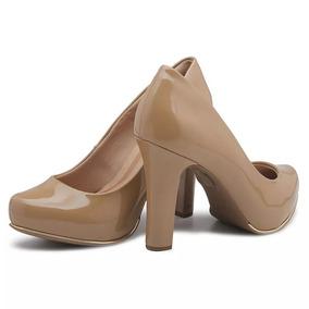 Sapato Feminino Crysalis Salto Alto Verniz - Frete Grátis