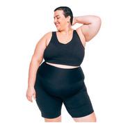 Bermuda Plus Size Wonder Size Joana Dark Emana® Plus Preta