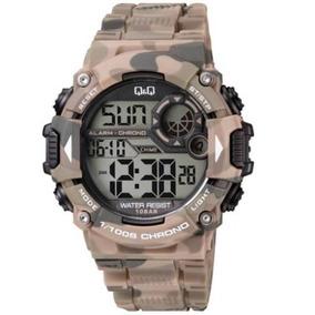 Reloj Q&q By Citizen Tactico Camuflaje Verde