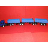 Basculante Azul 9 Eixos Caminhão Rodotrem Bitrem Comp82cm