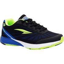 Zapatos Deportivos Rs21 Irradio Para Dama (negro/azul Rey)