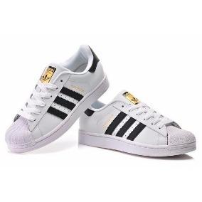 Zapatillas adidas Superstar Dama Niña Blanco Gris Negro