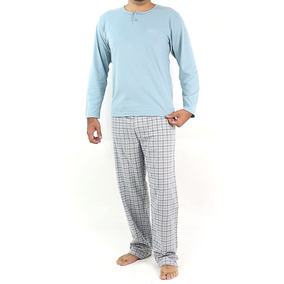 Pijama Masculino Decote Careca Com Calça Xadrez