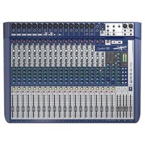 Mesa De Som 22 Canais Soundcraft Signature 22 Bivolt Xlr P2