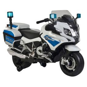 Moto Elétrica - 12v - Bmw Policia - Bandeirante