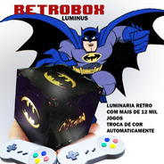Retrobox Luminus, 20 Mil Jogos Na Memoria, Cubo Batiman Rgb