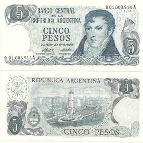 Billete 5 Pesos Ley Reposicion Bottero 2333a Sin Circular