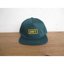 Boné Obey Forest Verde Snapback Importado Original