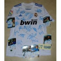 Jersey Real Madrid Firmada Equipo 2011 Cristiano Ronaldo Coa
