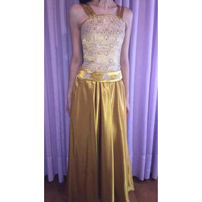 Vestido Quince Años Dorado