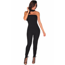 Body Completo Strapless Moda Sexy Casual Negro Table Dance