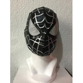Spider-man Hombre Araña Negro Mascara Para Niño Y Adulto