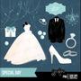 Kit Imprimible Boda Matrimonio Imagenes Clipart Vestido Novi