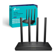 Roteador Wireless Tp-link Archer C6 Wi-fi 1200mbps Gigabit 100/1000 Dual Band Mu-mimo Ac1200