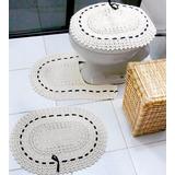 4 Jogos De Banheiro Crochê