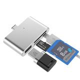 Leitor De Cartão 4em1 Usb Tipo-c P/ Celular E Macbook