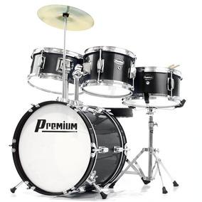 Bateria Infantil Premium Dx30j - Acústica, Cor Preta, Bumbo