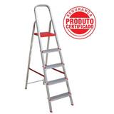 Escada De Alumínio Doméstica 5 Degraus Botafogo