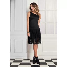 Oferta-vestido Negro Sin Mangas, Abertura En Espalda, Andrea