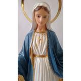 Imagem Nossa Senhora Das Graças 30cm Resina Calcário Florenç