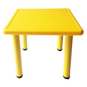 Bingo Mesa Cuadrada Para Niños De 4 Plazas Amarilla - Barulu