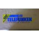 Famosa Publicidad Plastica No Calco Telefunken Decada 90..!!