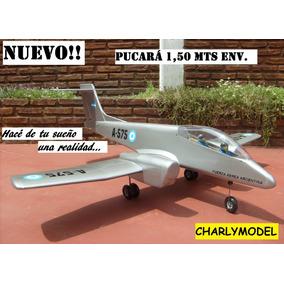 Avión Aeromodelismo Rc Ia 58 Pucará 1,50 Mts Env En Kit