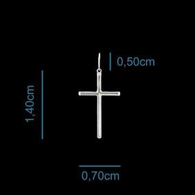 Pingente Em Prata 925 Crucifixo Com 1,40cm E Com 0,30gr.