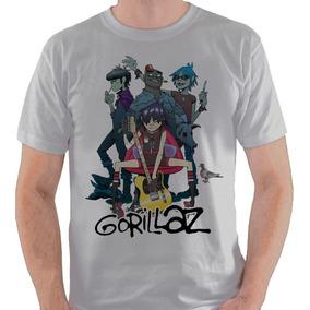 Camiseta Gorillaz Banda Membros Camisa Blusa
