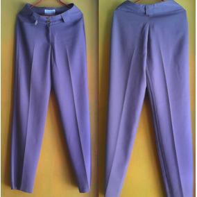 Pantalon De Vestir Dama Color Vino Lavado T-12