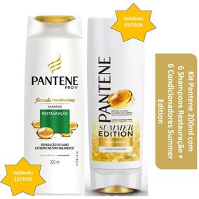 Kit Pantene 200ml 6 Shampoos Restauração + 6 Condic. Summer