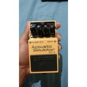 Pedal De Efeito Para Guitarra Simulador Acústico Boss Ac-3