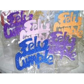 Cartel Feliz Cumple Torta Adorno Cumpleaños Mundomatok