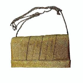 Bolsa De Festa - 2 Em 1 Bolsa E Carteira - Cor Dourada