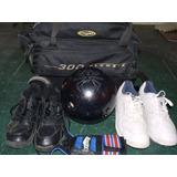 Kit De Bowling, Bola, Bolso, Zapatos Y Guantines